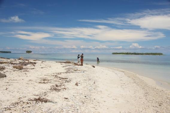 Pantai di Pulau Banyak, Kepulauan Pulau Banyak, Indonesia.