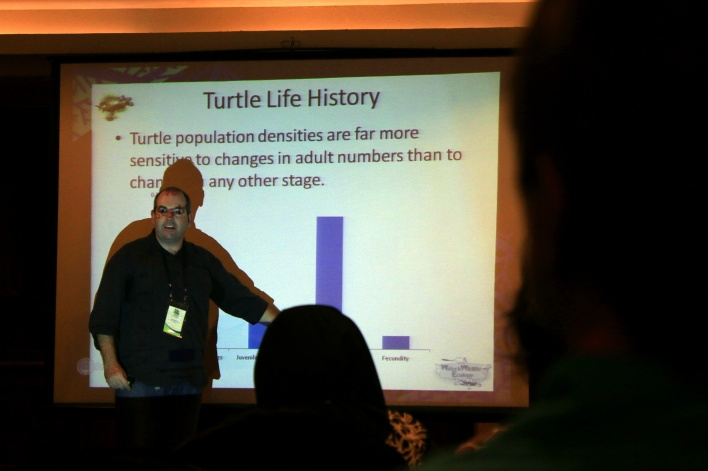Ricky Spencer of University of Western Sydney presented a Global Turtle Decline