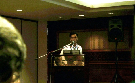 Founder of Satucita Foundation, Joko Guntoro, presented The Progress of Painted Terrapin Conservation in Aceh