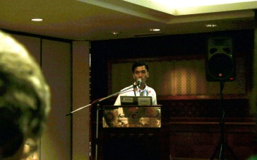 Joko Guntoro presenting the progress of Painted Terrapin Conservation in Conference of SCB Asia 2014