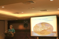 Marilyn Connel giving presentation of Mary River Turtle Australia
