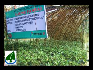 nursery to reforest the riverine that converted to farming